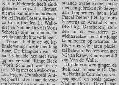 1994 - Enkel Costa, Tossens en Devrij verlengen titel
