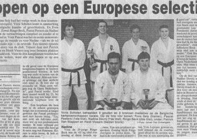 1995 - Hopen op Europese selectie