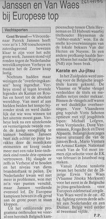1995 -Janssen en Van Waes bij Europese top