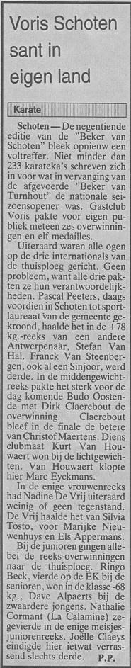 1995 - Voris schoten sant in eigen land