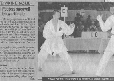 1998 - Pascal Peeters sneuvelt in de kwartfinale